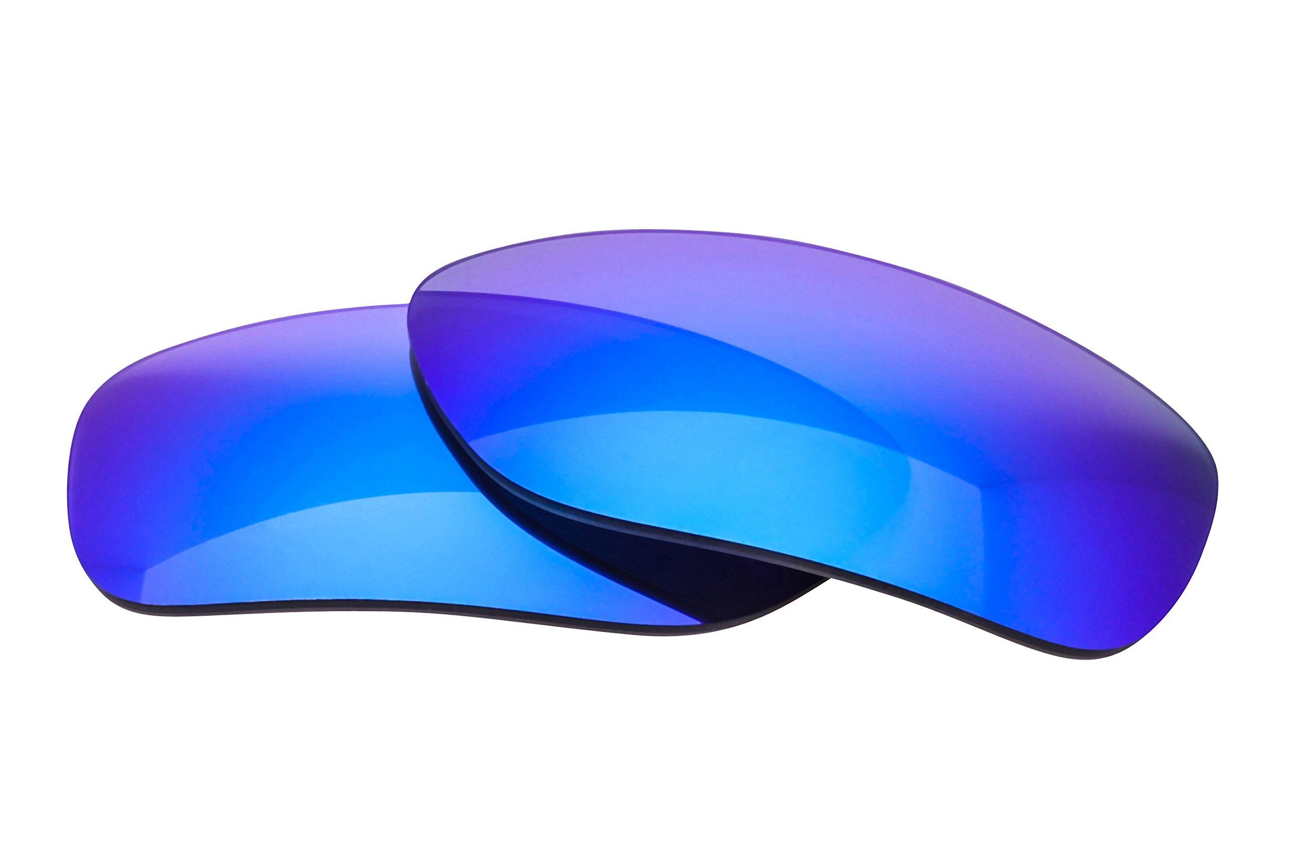 LenzFlip Polarized Lens Replacement REVO Heading Sunglass - Gray Polarized with Blue Mirror Lenses