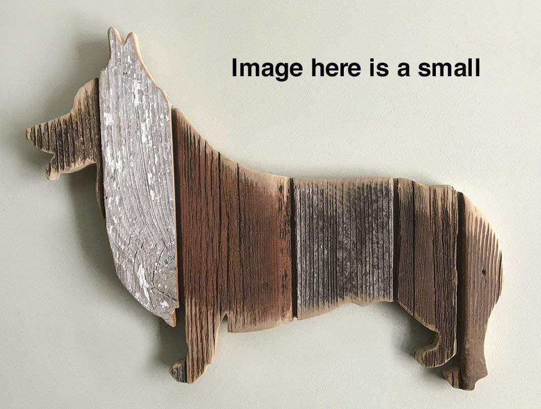 Wooden Corgi silhouette made with reclaimed wood (sold-order yours now)