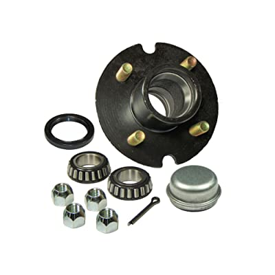 Rigid Hitch Trailer Hub Kit (BT-100-22-A) 4 Bolt on 4 Inch Circle - 1-1/16 inch I.D. Bearings: Sports & Outdoors