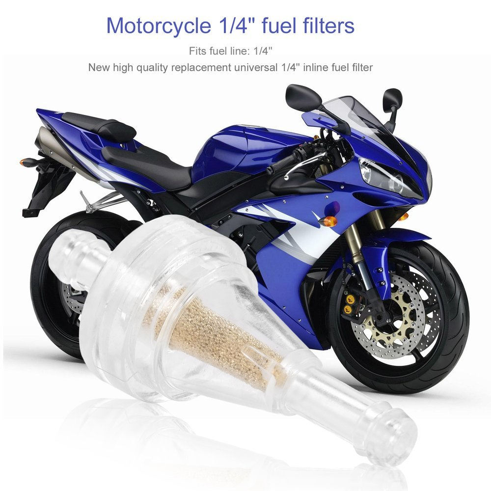 10pcs 1 4 Clear Inline Fuel Gas Filter For Motorcycle Briggs Strattoncolor Transparent Car Motorbike