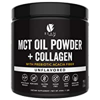 MCT Oil Powder with Collagen and Prebiotic Acacia - Pure MCT's - Perfect for Keto...