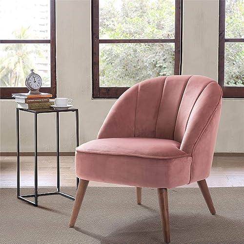 Noemi Mid-Century Modern Velvet Channel Tufted Side Chair