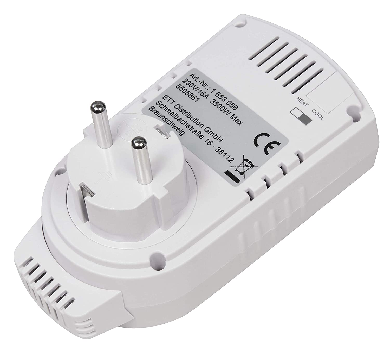 5-30 /°C, m/áx. 3500 W, 230 V//16 A Termostato para enchufe McPower TCU-330