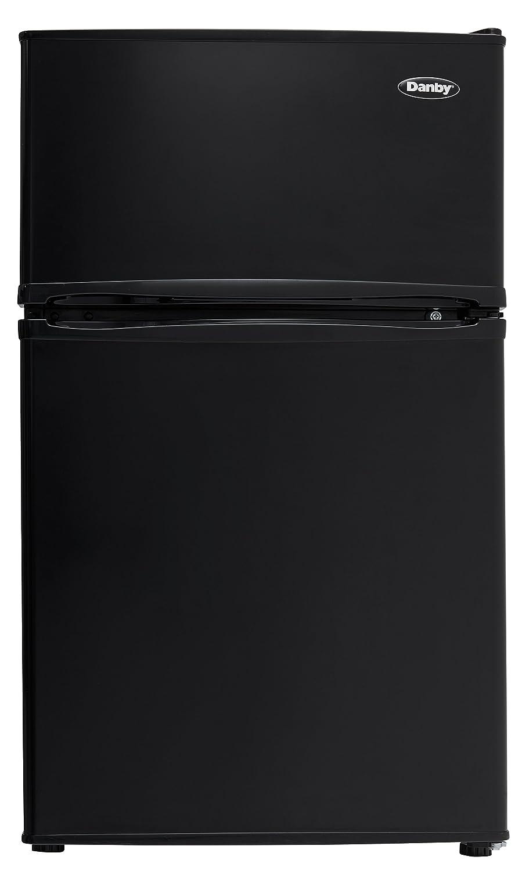 Danby VD-22672EPBK DCR032C3BDB Double Door Compact Refrigerator, Black, 1