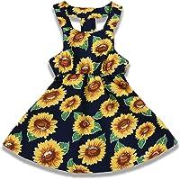 YOUNGER TREE Toddler Baby Girls Kids Summer Dress Outfits Ruffle Strap Sunflower Print Tutu Skirt Sunsuit Beachwear…