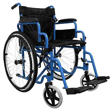 medicalpharm® carrito silla de ruedas autopropulsable, silla de ruedas para mayores y discapacitados,