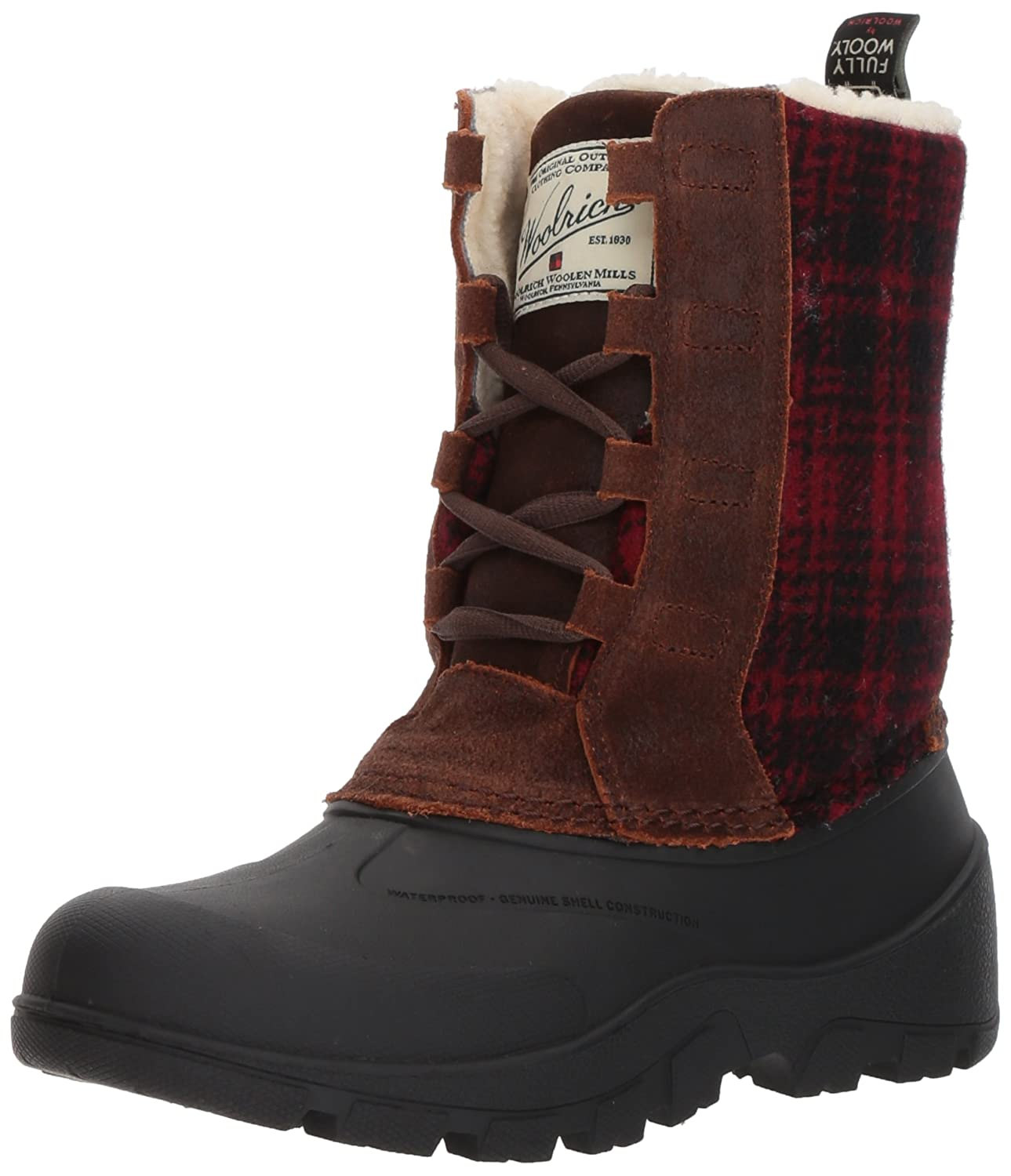 Woolrich Women's Fw Tundracat Snow Boot B01N4DC29P 7 M US|Coconut/Red Hunting Plaid