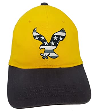 cd34717256cec American Eagle Outfitters Yellow w  Big Eagle   Blue Bill Baseball Cap  L XL  Amazon.co.uk  Clothing