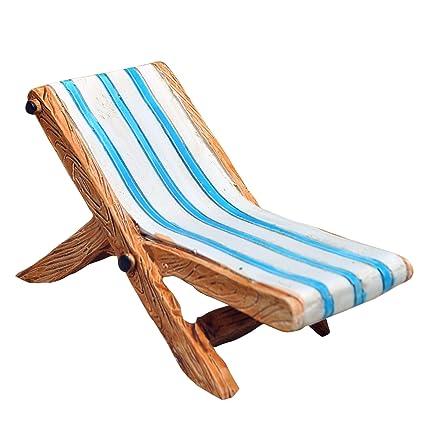 Astonishing Beach Lounge Chair For Miniature Garden Fairy Garden Inzonedesignstudio Interior Chair Design Inzonedesignstudiocom