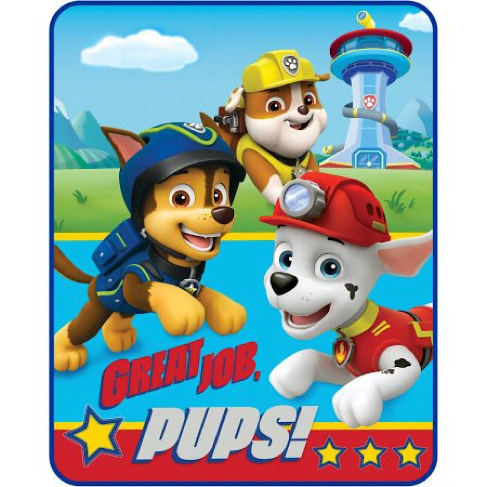 Nickelodeon Paw Patrol Pups Plush Throw Blanket - 40 in. x 50 in.