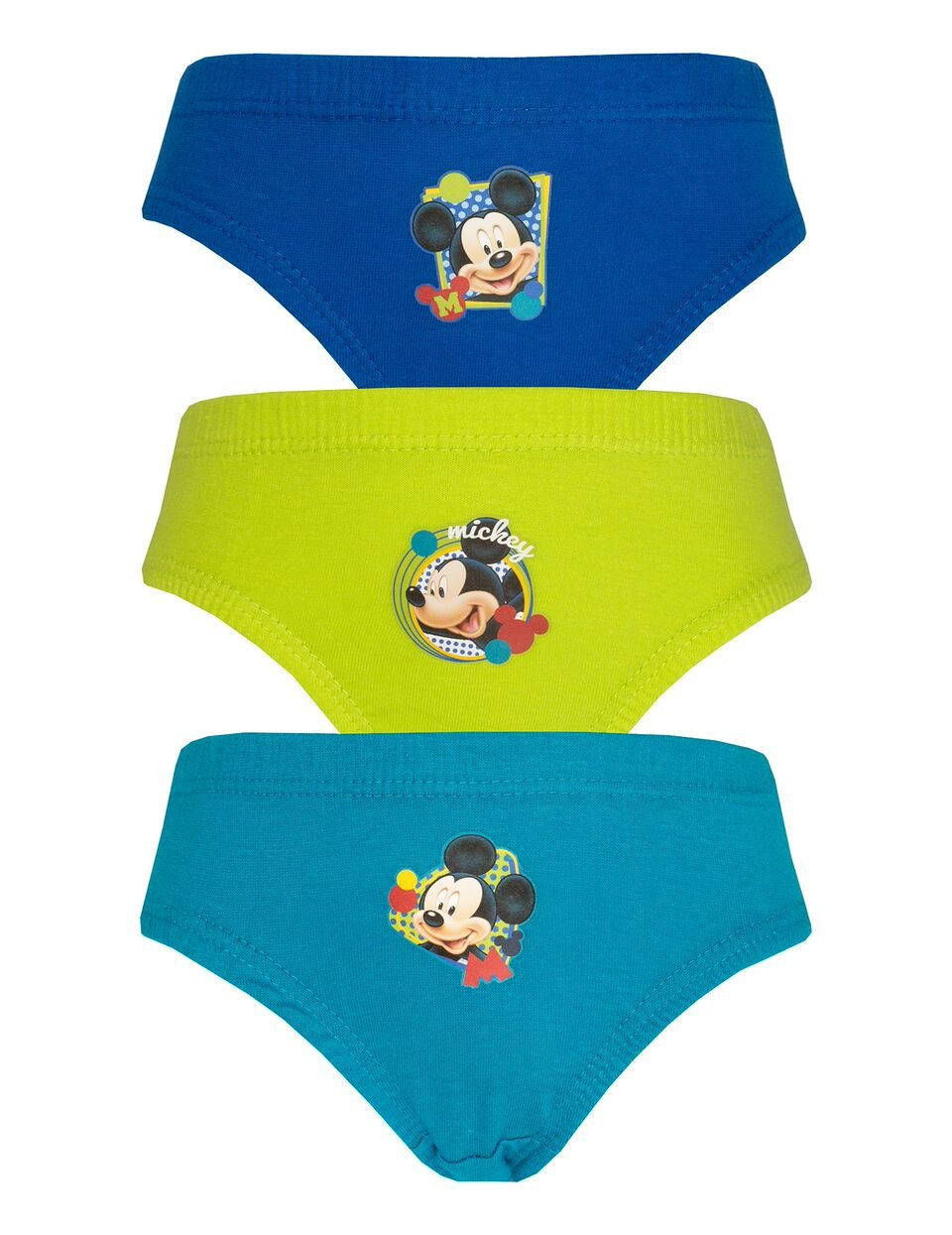 Disney Mickey Mouse 3 Pack Boys Pants / Briefs
