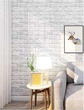 Haokhome 61022 3 Peel And Stick Faux Brick Wallpaper White Self Adhesive Contact Paper Bathroom Decorative 17 7 X 9 8ft Wallpaper Amazon Canada