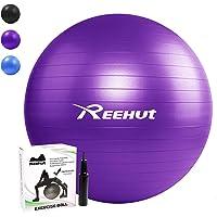 REEHUT Gymnastiekbal, zitbal, yogabal, pilatesbal, fitnessbal, anti-barst incl. pomp met belastbaarheid tot 500 kg, core…