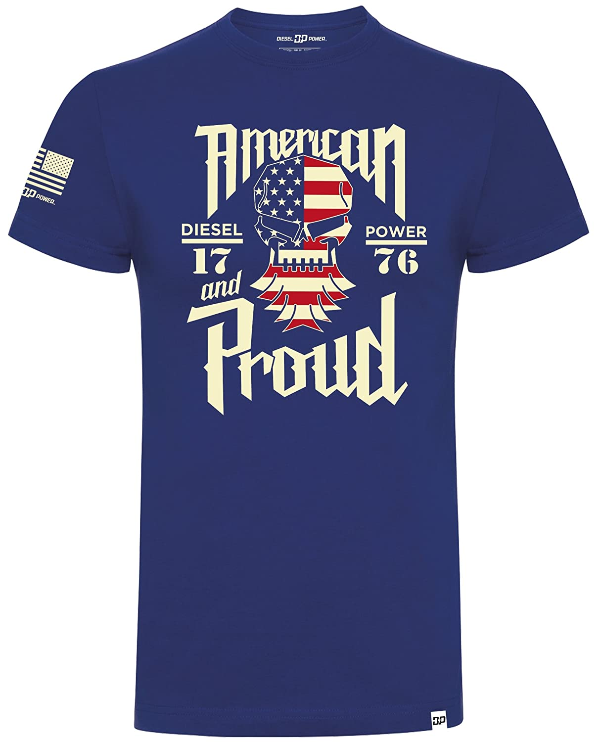 Diesel Power DPG Gear T-Shirt American and Proud Royal Blue