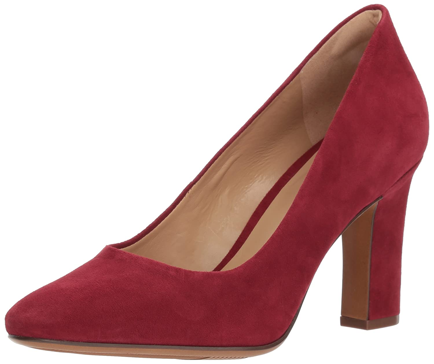 Red suede Naturalizer Women's Gloria Pump