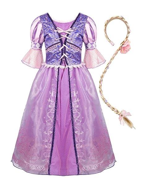 YiZYiF Disfraz Princesa Medieval para Niñas Vestido Princesa ...