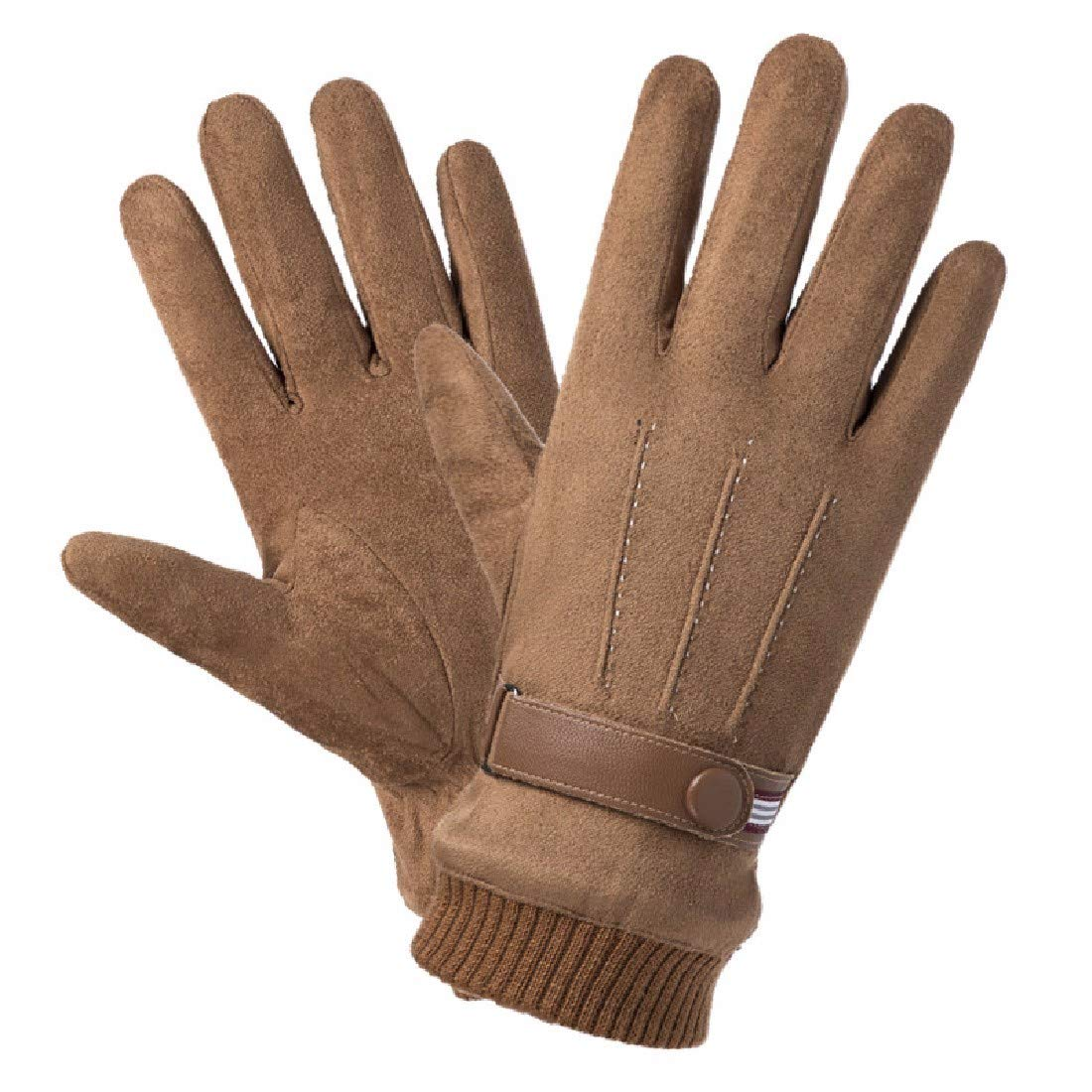 ZPSPZ mens gloves Gloves Mens Windbreak Warm Furry Touch Screen Riding Cotton Gloves in Autumn and Winter