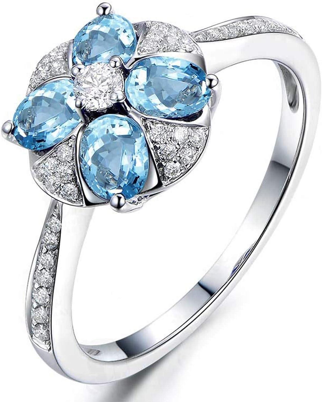Blisfille Joyas Anillos de Compromiso Pandora Anillo de Flower Anillos Hombre Diamantes Anillo de Plata de Ley 925,Plata del Tamaño 25: Amazon.es: Joyería