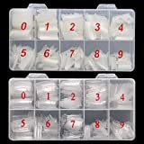 MISMXC 1000PCS Acrylic Nails Tips French Style Lady False Artificial Tip Manicure with Box for Nail Art Salons and Home…