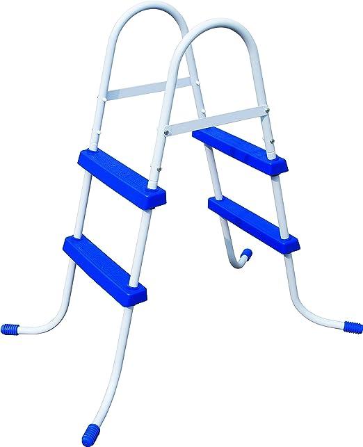 Bestway 58329 Accesorio para Piscina Escalera - Accesorios para Piscinas (Escalera, Azul, Blanco, Metal, De plástico, 760 mm, Caja con Foto): Amazon.es: Jardín