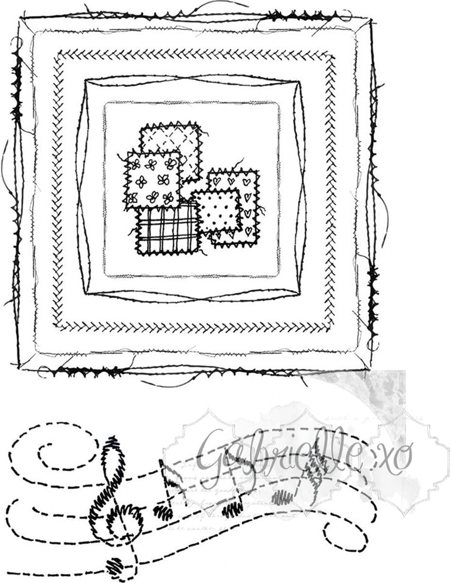 49 And Market Clear Stamps 4x6-gabis Line Stitch