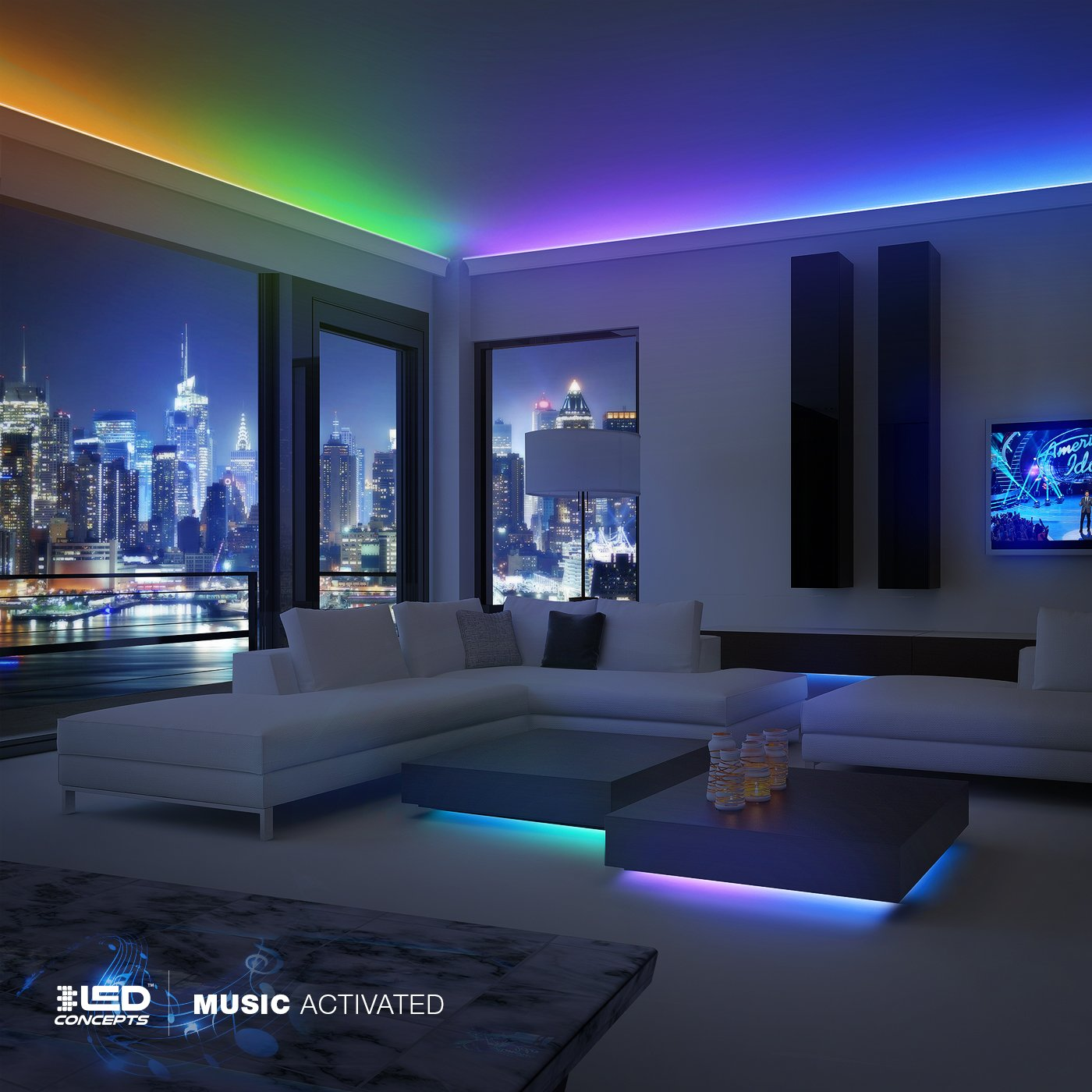Amazon.com: LED Concepts Strip Lights Colored Led Rope Lights for ...