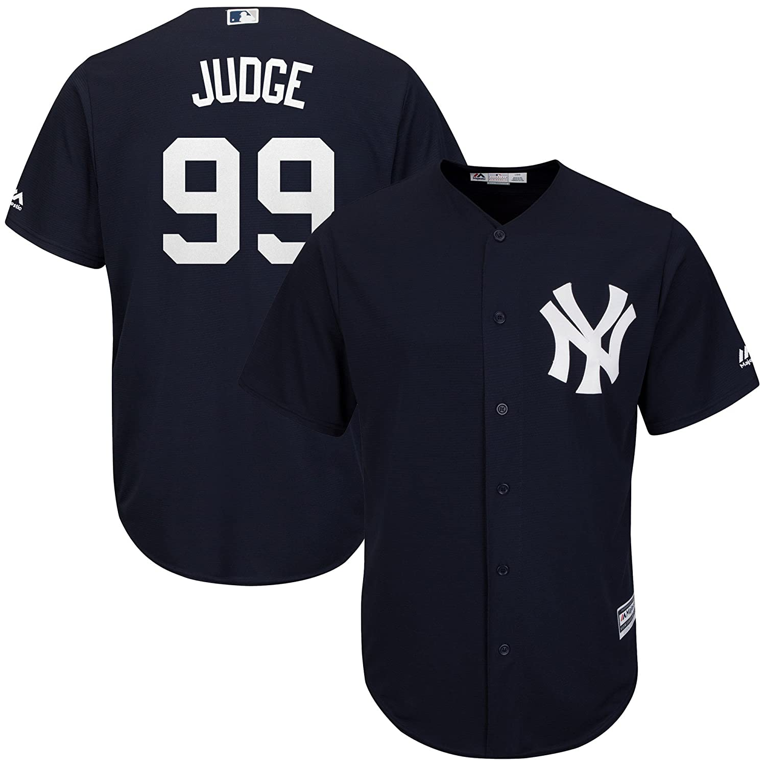 2fcddbe5575 Amazon.com  Majestic Aaron Judge New York Yankees MLB Youth Navy Alternate  Cool Base Replica Jersey  Clothing