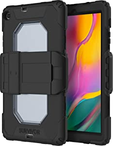 Griffin Technology Survivor All Terrain Case for Samsung Galaxy Tab A 10.1 (2019) - Black [Military Standard I Screen Protector I Extremely Resistant I Removable Stand] - GSA-026-BLK
