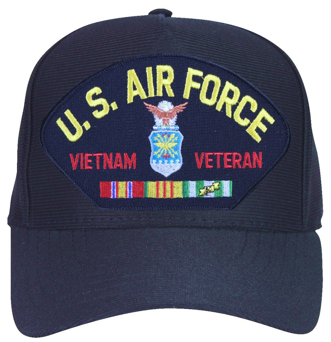 1fd89d0450856 Amazon.com  MilitaryBest Air Force Vietnam Veteran with Ribbons Ball Cap  with Custom Back Text  Sports   Outdoors