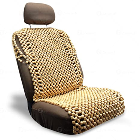 Zone Tech Natural Royal Wood Bead Seat Cover Massage Cool Premium Comfort Cushion