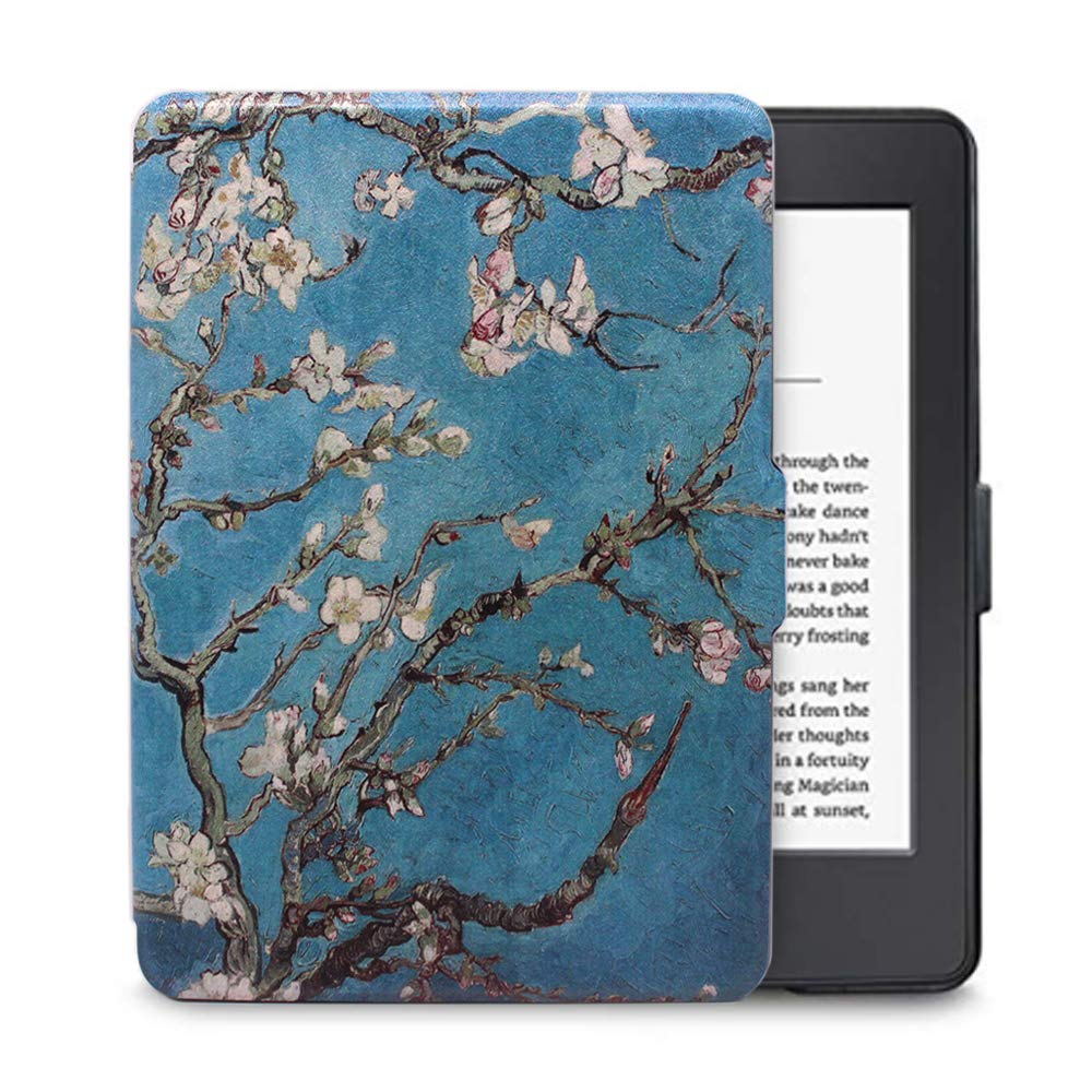 FAN SONG Case for Kindle Voyage PU Leather Slim and Thin Protective Smart Cover with Auto Sleep//Wake Up Function for  Kindle Voyage 2014
