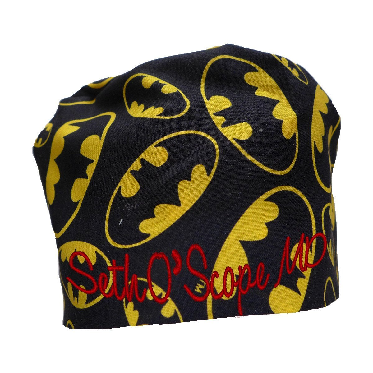 S1FM! Personalized Scrub Cap, Batman, Handmade, Dbl Cotton S1FM1402