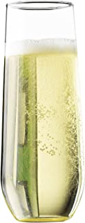 product image for Libbey Vina Stemless 8.5-Ounce Clear Champagne Flute Glass Set, 4-Piece