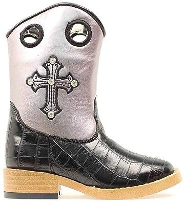 2dfa0101a3b Blazin Roxx Girls' Sonora Croc Print Cowgirl Boot Square Toe - 4451201C
