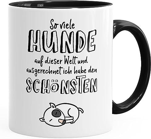 vanVerden Tasse Je mehr Menschen Hund Hundebesitzer Hunde Mug Motiv