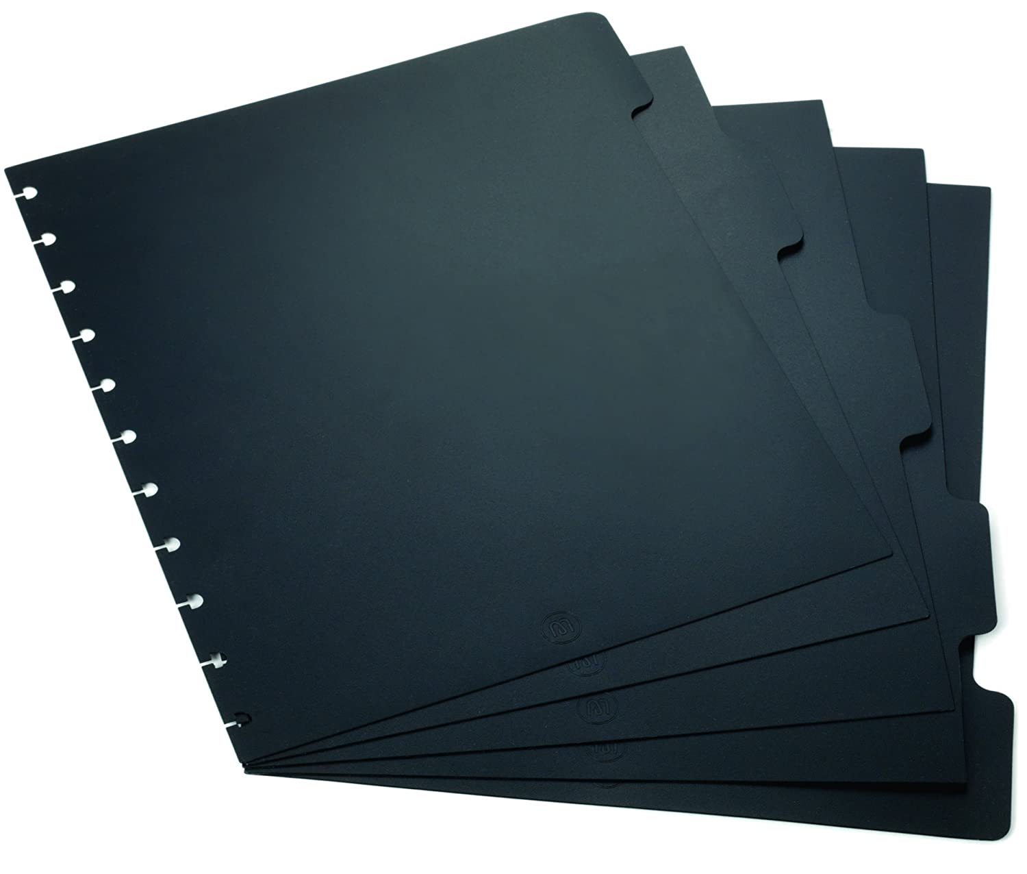 Staples? Arc Notebook Tab Dividers, Letter-sized, Black, 9 x 11, Set of 5 9 x 11