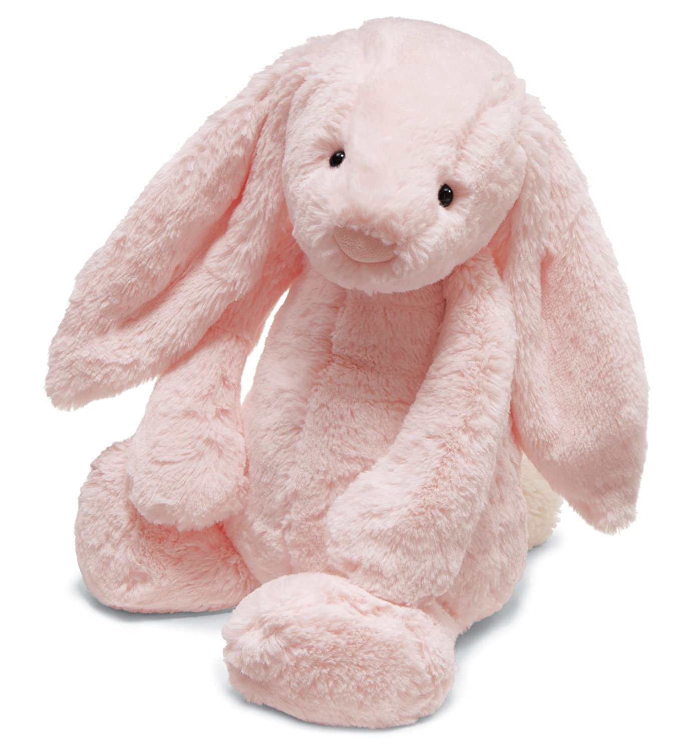 Jellycat Bashful Pink Bunny Baby Chime Rattle, 12 inches SBB444P