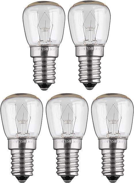 Backofenlampe E14 15W 230V Glühbirne Tropfenform 300°