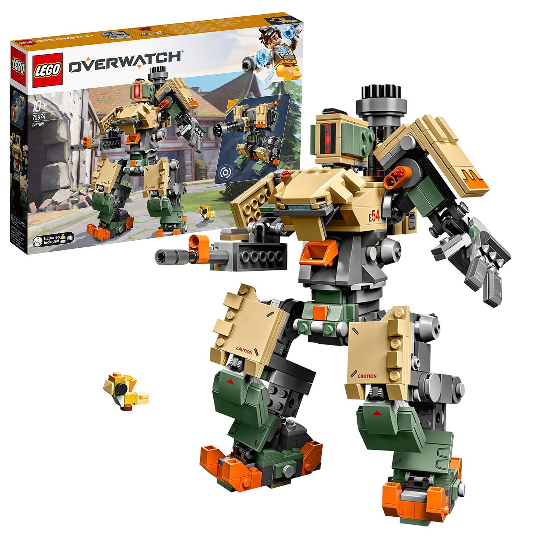 LEGO Overwatch - Bastion, Set de construcción del Personaje de Videojuego, incluye muñeco de juguete del pájaro Ganymede (75974)