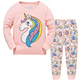 Amazon Price History for:Hugbug Girls Unicorn Pajamas Set 2-7T