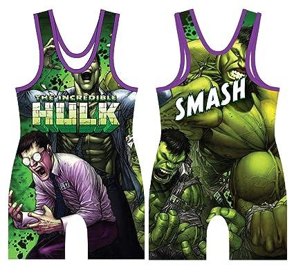 8f799141664bf Amazon.com : 5Kount Hulk Smash Wrestling Singlet : Sports & Outdoors