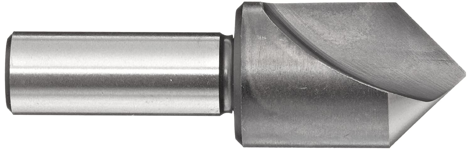 1//2 Shank Dia Union Butterfield 4603 Series High-Speed Steel Single-End Countersink Bright Finish Single Flute 90 Degrees Uncoated 1.5 Body Dia.