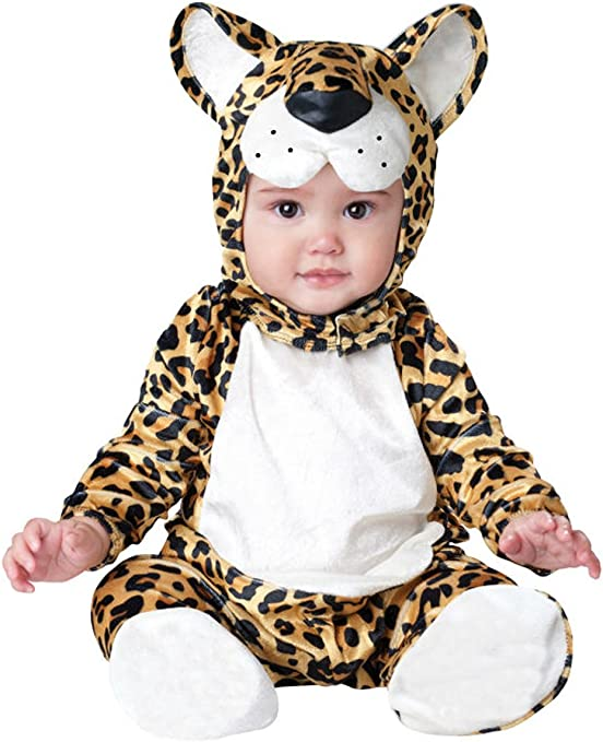 Leopardo Animales Bebé Disfraz 3 – 24 M manga larga de franela One ...