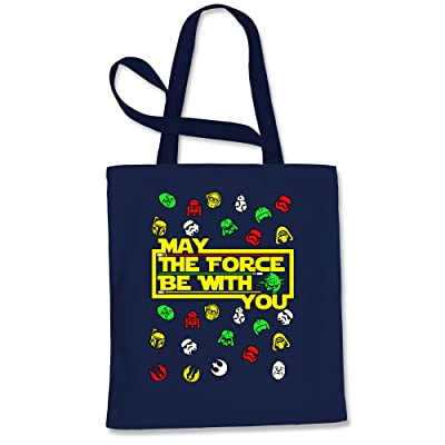 Expression Tees May The Force Be With You Ugly Christmas Shopping Tote Bag
