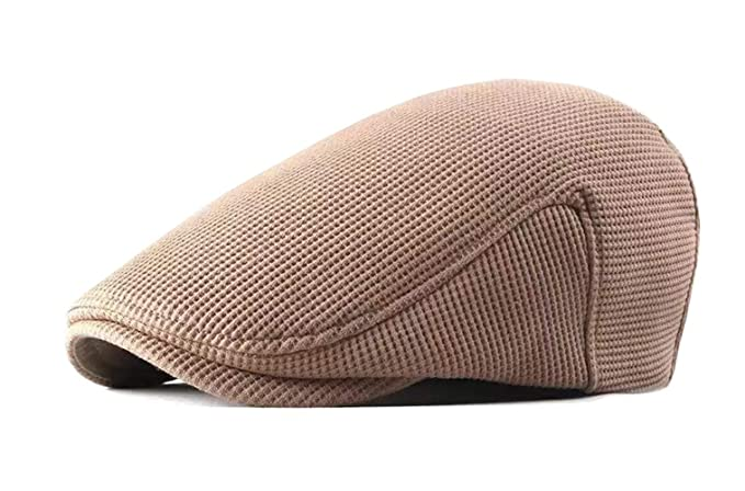 FOOKREN Unisex Autumn Winter Flat Cap Tweed Adjustable Gatsby hat 5 Color 55-60cm