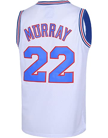 c1003a7a8d705 Mens Basketball Jerseys  22 Bill Murray Space Jam Jersey White Black