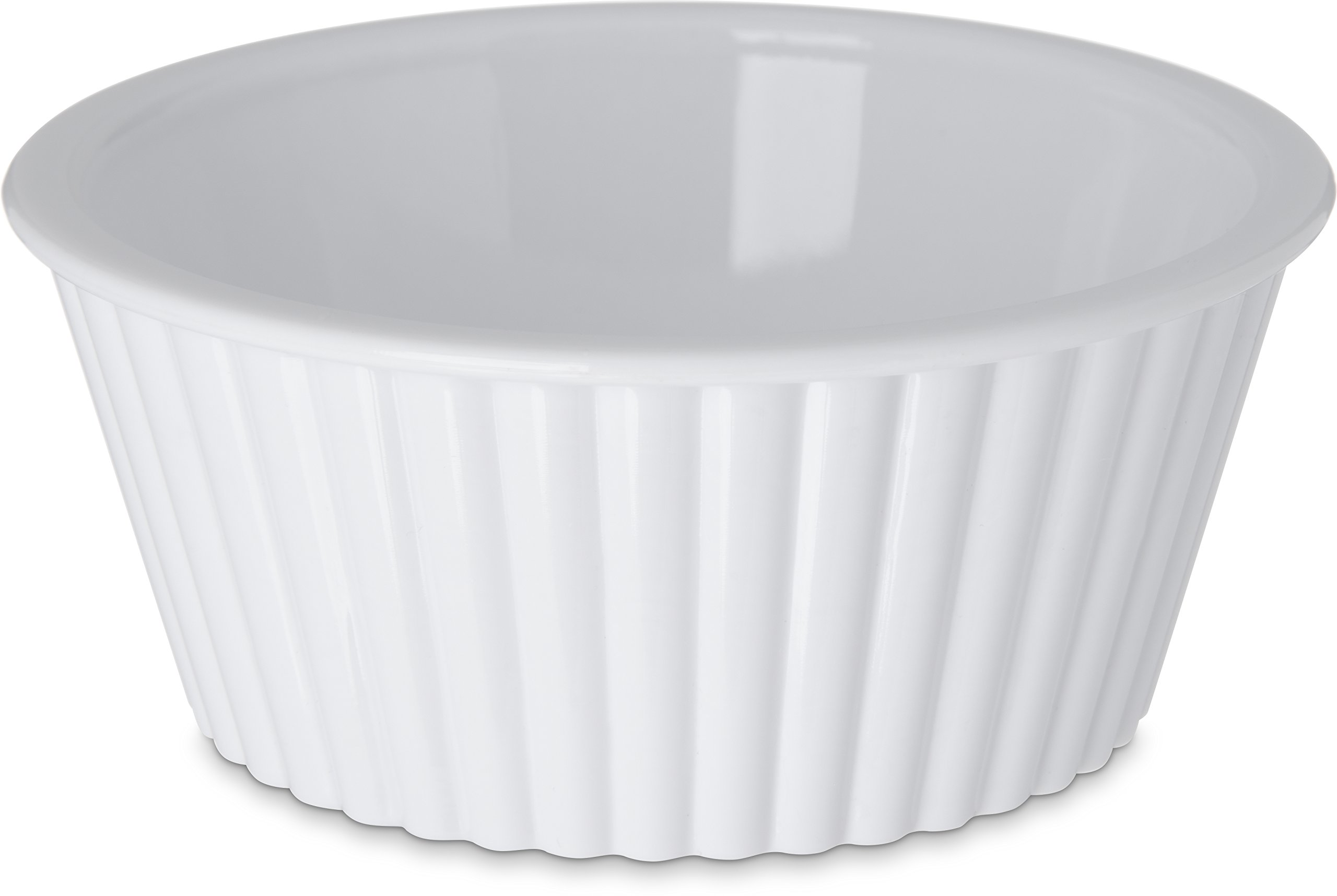 Carlisle 084502 SAN Fluted Ramekin, 4.5-o.z Capacity, 1.50 x 3.50'', White (Case of 48)