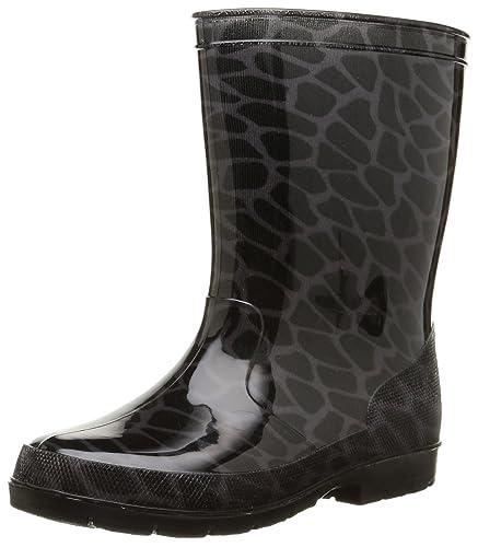 Womens ELSA PVC DAMESLAARS ZWART Unlined Rubber Boots Half Shaft Boots & Bootees Chuva BUh3itjY2a