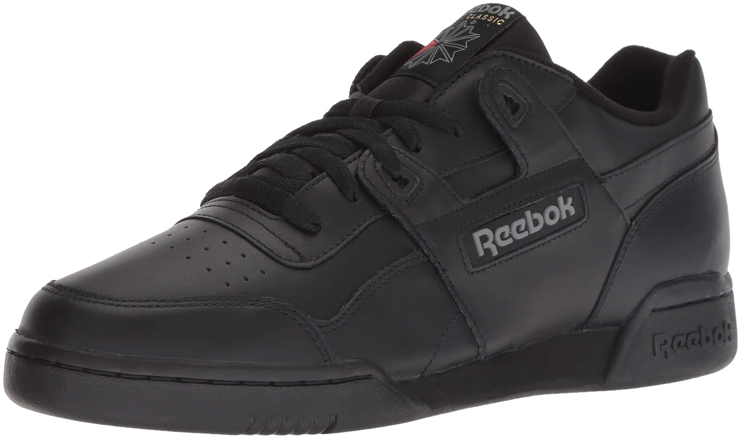 Reebok Men's Workout Plus Sneaker, Black/Charcoal, 8 M US by Reebok