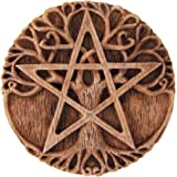 Small Tree Pentacle Wall Plaque Wood Finish